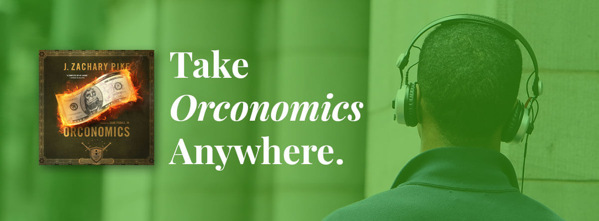 A man listening to Orconomics